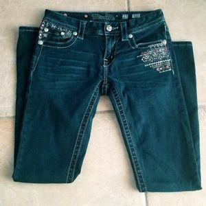 Miss Me Dark Wash Denim Skinny Jeans Size 27